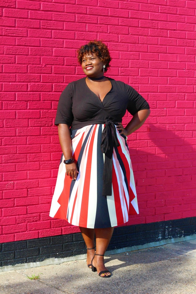 plus size dresses, calf length dresses, stripe dresses, print dresses, eshakti dresses, ankle strap sandals, plus size bloggers, plus size blogs, curvy women, curvy girls, curvy girl, curvy bloggers, curvy blogs, plus size fashion, plus size, plus size fashion