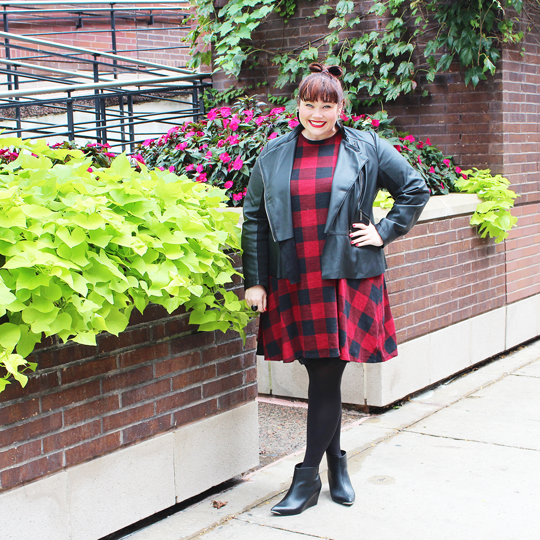 plus size fashion, plus size bloggers, plus size blogs, curvy bloggers, curvy blogs, skinny jeans, plus size skinny jeans, mules, midi skirts, camel coats, plus size coats, chambray shirts, plus size shirts, gingham, gingham dresses, fall, layering, moto jacket, plus size moto jacket, sleeveless vests, plus size sleeveless vest, floppy hat, denim jacket, plus size denim jackets, shirt dress, booties, ankle boots, wide width ankle boots, plus size fall fashion,