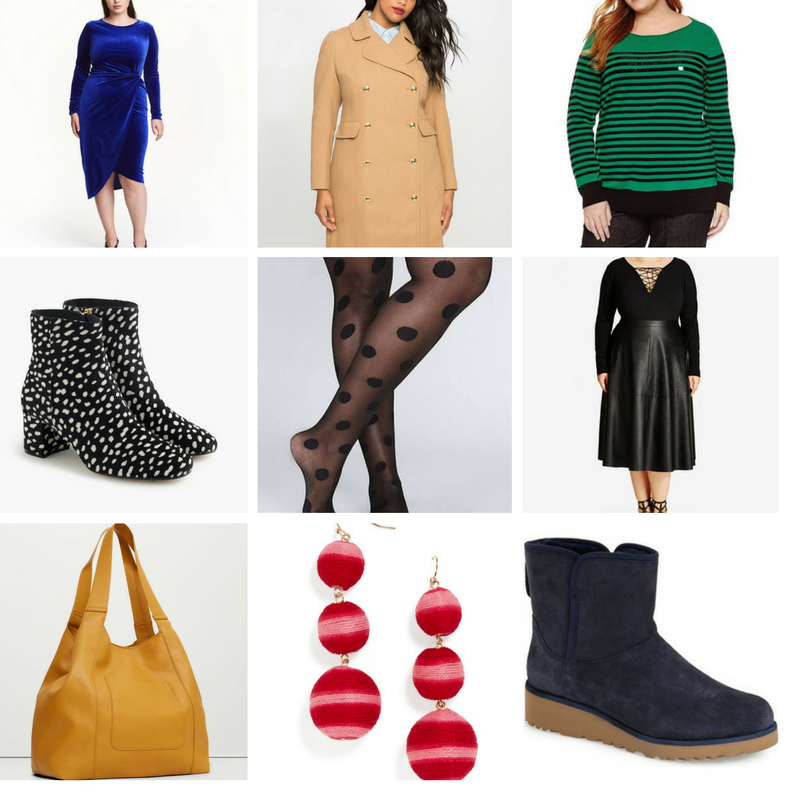 cyber monday, plus size clothing, plus size fashion, jcrew, ankle boots, H&M plus, plus size dresses, plus size coats, eloquii, jcpenny, plus size sweaters, plus size tights, plus size skirts, plus size midi skirts, faux leather skirts, city chic, plus size leather skirts, tote bags, statement earrings, baublebar, ugg boots, short ugg boots, nordstrom, uggs on sale